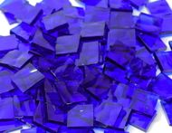"""1"""" x 1"""" Blazing Blue Hammered Stained Glass Mosaic Tiles (25 tiles)"""