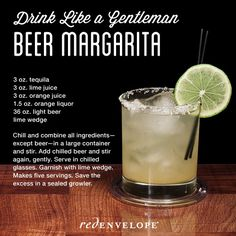 Drink like a gentleman! What to treat dad with this Father's Day: Beer Margarita cocktail recipe