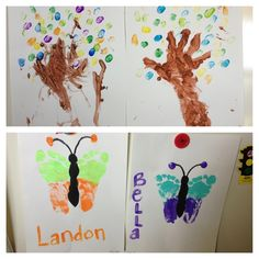 hands and feet religious craft tree | Hand trees & butterfly feet