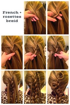 How to French Braid & Rosettes Hairstyle on Yourself Tutorial ~ Calgary, Edmonton, Toronto, Red Deer, Lethbridge, Canada Directory