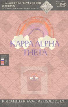 #kappalphatheta #greekshirts Greek Shirts, Print Design, Graphic Design, Kappa Alpha Theta, Bella Canvas, Spelling, Artwork, Print Layout, Work Of Art