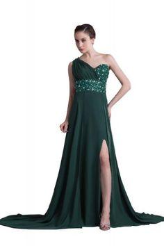 Luxurious Crystal Detailing One-shoulder Chapel Train Chiffon Evening Dress ZW004 (10, Dark Green) Lemandy http://www.amazon.co.uk/dp/B00I1RUQMQ/ref=cm_sw_r_pi_dp_5Fliwb1EYFPBP