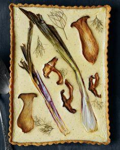 tart w/ mushroom & fennel
