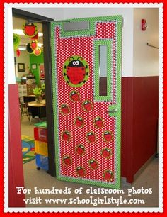 Ladybug Classroom Decor Ladybug bulletin board classroom theme www.schoolgirlstyle.com