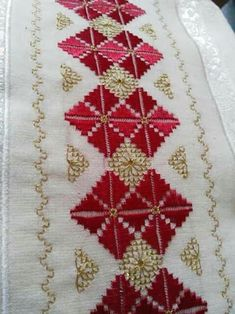 ponto reto - toalhabordado bargello o florentino ile ilgili görsel sonucu Embroidery Patterns Free, Hand Embroidery Stitches, Hand Embroidery Designs, Cross Stitch Patterns, Bordado Tipo Chicken Scratch, Bargello Patterns, Crochet Shell Stitch, Swedish Weaving, Drawn Thread
