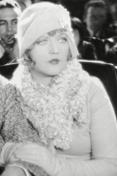 Style icons of the 1920s - Marion Davies  A silent era actress with considerable comic talent, Marion Davies was known for her huge sad eyes and a seemingly endless supply of cloche hats (it wasn't considered rude to wear them inside the cinema in those days).
