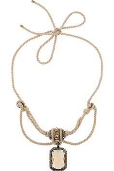 Lanvin   Swarovski crystal rope necklace
