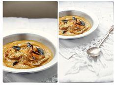 Sopa de abóbora assada com queijo brie e sálvia