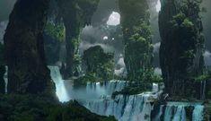 IP Development - Illustration Project - The Rookies Fantasy Art Landscapes, Fantasy Landscape, Landscape Art, Fantasy Concept Art, Fantasy Artwork, Environment Concept Art, Environment Design, Fantasy Places, Fantasy World