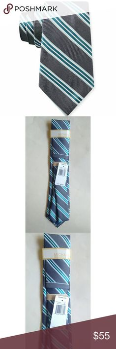 New! Michael Kors 100% Silk Sable Stripe Men's Tie This handsome Michael Kors tie is an essential staple for any gentleman's wardrobe. Pair it with a crisp button-down for a great look that never goes out of style.  Color: Multi Pick Sable Stripe  100% Silk  Dry Clean Only  Retails for $65 Michael Kors Accessories Ties