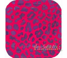 Pink Leopard Print Large Square Paper Plates (12ct)  sc 1 st  Pinterest & Pink and Green Leopard Print Small Paper Plates (10ct) | Animal ...