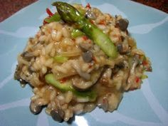 Tampopo Gourmet: Risoto de Cogumelos com Aspargos Frescos