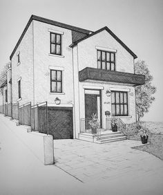 I will do professional hand drawings and sketches of your buildings, #hand, #ad, #professional, #drawings Sketchbook Architecture, Architecture Concept Drawings, City Drawing, House Drawing, Landscape Pencil Drawings, Art Drawings Sketches Simple, Hand Drawings, Interior Design Sketches, Perspective Art