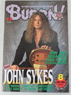 1995/08 BURRN! Japan Rock Magazine JOHN SYKES/BON JOVI/FAIR WARNING/ANGRA/