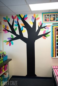 Check out this great tutorial for how to create vinyl trees to decorate your classroom walls.