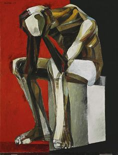 Thinking Man. 1977. Oil on canvas 115 by 89 cm. Ang Kiukok