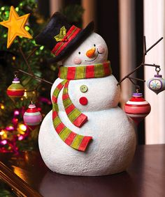 """<3 ~~ """"Believe"""" Snowman Figurine -=- Sure to Melt Your Heart & This Snow Never Melts !! ~~ <3"""