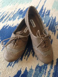 Not Rated Oxford Street Shoe - Houndstooth Taupe www.chocshoe.com
