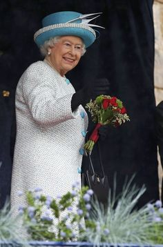 Queen Elizabeth II smiles as she visits Lancaster Castle on May 29, 2015 in Lancaster, England.