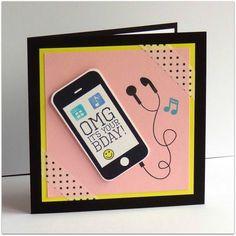 Addinktive designs a smart phone card made from sus digital addinktive designs a smart phone card made from sus digital punches stampin up only pinterest phone card smart phones and phone m4hsunfo