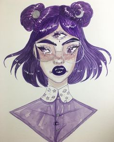 Finished Watercolor painting did via live stream tonight! I finished it just as Insta cut me off, and I didn't get to say goodbye but as always thank you so much to everyone who stopped in while I made this, thank you for the excellent company and wonderful feedback! My idea for this girlie was that she's a Nightvale Intern--let me know if any of you guys are catching my drift ✨ #art #myart #artist #drawing #draw #sketch #sketching #doodle #doodles #cute #beautiful #girl #work #wip #pai...