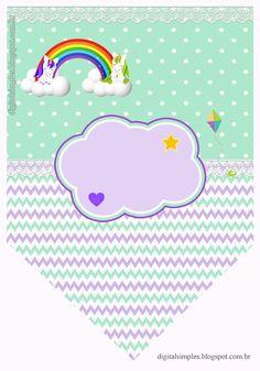 Brillo Personalizado LILA CORAZÓN Arco Iris Pegatinas de cono Dulce Fiesta De Cumpleaños