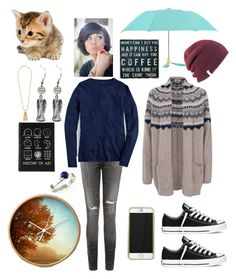 """These are a few of my favorite things"" by tinyblueowls ❤ liked on Polyvore featuring Coal, French Connection, Leighton, Pink Marmalade, Citizens of Humanity, J.Crew and Converse"