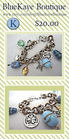 Etsy Jewelry #etsy #jewelry Charm bracelet by BlueKaye Boutique on Etsy $20.00