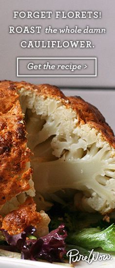 Roast the whole damn cauliflower. Get the recipe via @PureWow