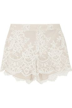 Alice + Olivia Embroidered tulle shorts | NET-A-PORTER Get it here:http://rstyle.me/n/feaqpwx26