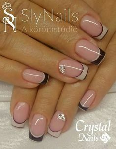 53 Trendy Nails 2018 Negras 53 Trendy Nails 2018 Negras – My World Frensh Nails, French Manicure Nails, French Tip Nails, Diy Nails, Manicures, French Nail Art, Nail Tip Designs, Manicure Nail Designs, Nail Art Designs Videos