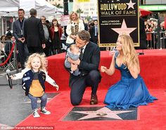 Family affair:His wife Blake Lively was there for support as she brought along their two-...