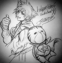Along with services being pushed online, Tetsuya Nomura has another drawing for us! http://kh13.com/news/services-for-kingdom-hearts-unchained-%CF%87-now-online-in-japan …