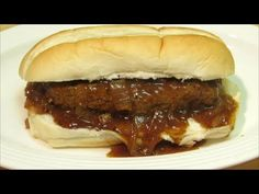 Salisbury Steak - Salisbury Steak Sandwich - THE TRUCK STOPPER SANDWICH - YouTube