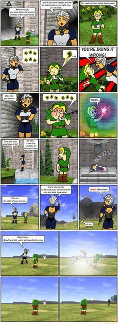 Zelda Comic  Ocarina of Time  Nerd humor  Sheikah Zelda's lullaby comic joke funny Nintendo N64