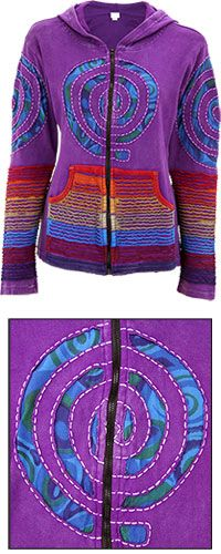The Rainbow Spiral Jacket is hand made by artisans in Nepal and fairly traded! PLUS each purchase of this item funds 50 cups of food for the hungry! Check it out: ✶ www.jlyou.org/SpiralJacket ✶