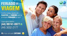 FERIADO é igual a VIAGEM!  Confira nossas opções em PACOTES de VIAGENS para os principais FERIADOS do ano.  Viagem com quem ENTENDE, viaje com a LIMITUR.  Acesse nosso site http://www.limitur.com.br Ou ligue: (44) 3032-2177 / (44) 99741-8977 (whatsapp) E-mail: vendas@limitur.com.br