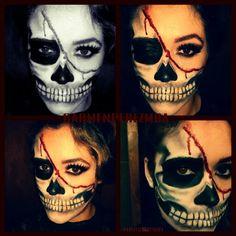 Carmenperezmua...skull makeup....halloween