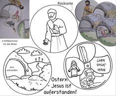 Ostern Auferstehung Jesus lebt! Drehscheibe basteln