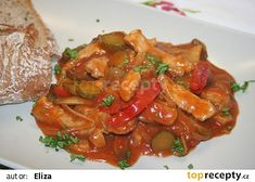 Putimské vepřové nudličky recept - TopRecepty.cz Kung Pao Chicken, Thai Red Curry, Ethnic Recipes, Nova, Asia, Cooking