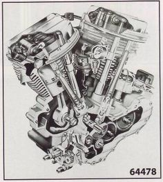 Panhead Engine Poster - Click Image to Close
