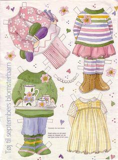 Bonecas de Papel: Meninas Floridas - Rosinha