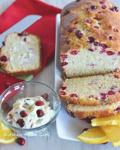 Orange Cranberry bread that requires no butter or oil - you'll never guess the secret ingredient! #recipe #bread