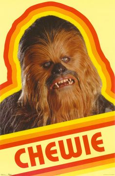 Gotta love this 70's aesthetic Chewie. If I ever come across a t-shirt with this print I'm buying it.