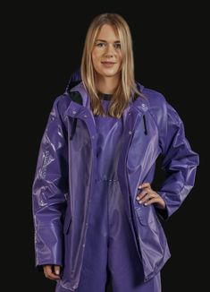 Cotton jacket and trousers - Farmerrain - Yrkeskläder Rain Suit, Pvc Raincoat, Rain Wear, Cotton Jacket, Unisex, Double Breasted, Catwalk, Rain Jacket, Windbreaker