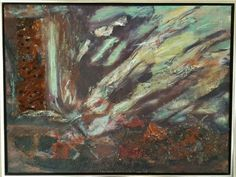 Abstract gemengde techniek in bak lijst. 60 x 80 cm. Eigen werk. beschikbaar