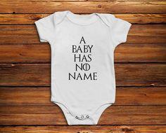 Game of Thrones Baby Grow Vest Onesie Bodysuit Romper - A Baby Has No Name