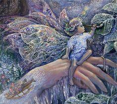 """Spirit of Winter Faery (Detail Spirit of Winter)"" par Josephine Wall"