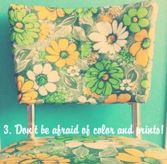 tips for decorating a retro modern home!  love the patterns