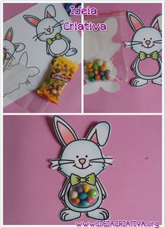 Lembrancinha Páscoa Coelhinho Barrigudo Bunny Party, Easter Party, Easter Projects, Easter Crafts For Kids, Diy Osterschmuck, Diy And Crafts, Paper Crafts, Bunny Birthday, Diy Ostern